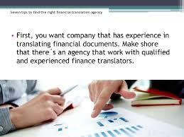 quality financial translation
